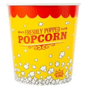 150 pack 130 Oz Round Paper Movie Theatre Concession Popcorn Buckets