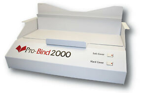 Probind 2000 Thermal Book Binding Machine Binds A Book In About A Minute