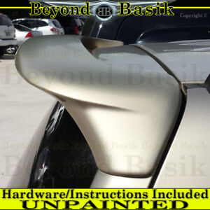 2001 2007 Toyota Highlander Factory Style Spoiler Roof Wing Unpainted