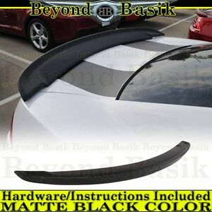 Matte Black 2014 2015 Chevy Camaro Ss Factory Z28 Blade Style Spoiler Wing Abs