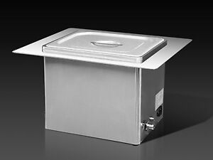 Brandmax Tri clean Recessed Ultrasonic Cleaner 13l u 13lhrec New Dental Medical