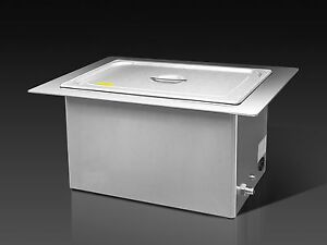 Brandmax Tri clean Recessed Ultrasonic Cleaner 20l u 20lhrec New Dental Medical