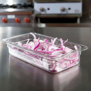 12 Pack 1 3 Size Commercial Clear Plastic Steam Prep Table Food Pan 2 1 2 Deep