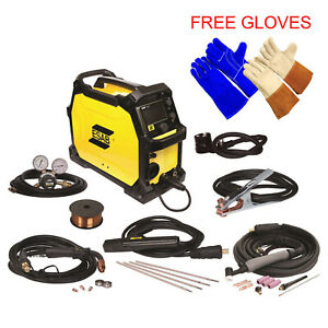Esab Rebel Emp 215ic Mig stick tig Welding Machine Free Tig Welding Gloves
