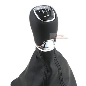 Genuine Leather Manual Gear Shift Knob Cover For Octavia Genuine Oe 1zd 711 113