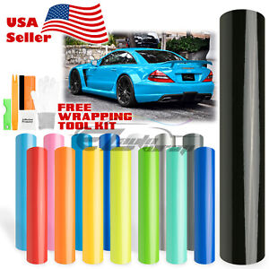 Premium Gloss Glossy Vinyl Wrap Car Vehicle Sticker Decal Film Air Bubble Free