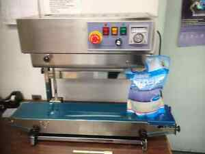 Fr 900v Vertical Horizontal Stainless Steel Continuous Band Sealer Machine