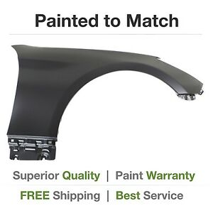 New Fits 2010 2011 2012 Hyundai Genesis Coupe Right Fender Cover Painted
