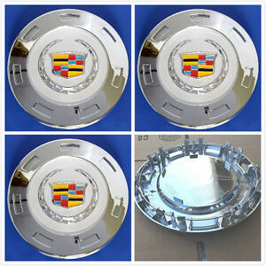 K649 4pcs New Wheel Center Hub Caps For Cadillac Escalade 9596649 2007 2014