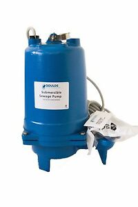 Ws0311bhf Goulds 1 3 Hp 115 Volts Submersible Sewage Pump Single Phase