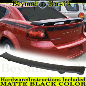 For 2008 2014 Dodge Avenger Matte Black Factory Style Spoiler Wing Unpainted