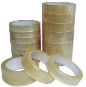 Clear Tape Strong Big Rolls Packaging Parcel Packing Sellotape 1 24mm X50m