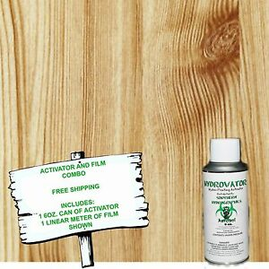 Hydro Dip Hydrographic Film Water Transfer 6oz Activator W straight Wood 2 Kit