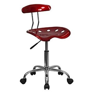 Adjustable Hydraulic Work Shop Stool Wheels Bench Swivel Garage Tractor Seat New