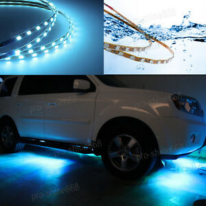 Universal 8k Ice Blue Led Strip Under Car Glow Underbody System Neon Light Kit Q