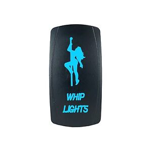 Polaris Rzr Xp 1000 Blue Rocker Switch Laser Etched Whip Lights