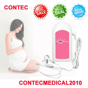 Contec Fetal Doppler Baby Heart Rate Prenatal Monitor 3mhz Batteries 1gel Orange