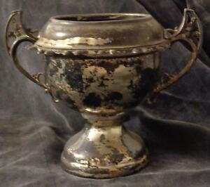 Hallmarked Vintage William A Rogers Footed Spooner No Lid Silverplate 58