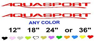 Aquasport Stickers Decals Any Color Any Size Fishing Boat Tool Box