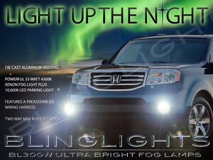 Fog Xenon Halogen Lamps Driving Light Kit For 2012 2013 2014 2015 Honda Pilot