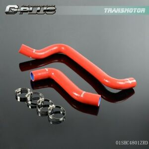 Red For Dodge Neon Srt 4 Srt4 2 4l 01 05 Silicone Radiator Coolant Hose Pipe