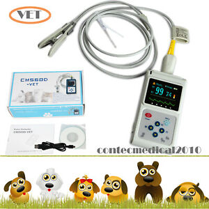 Veterinary Vet Pulse Oximeter Blood Oxygen Heart Rate Spo2 Pr Usb Pc Software