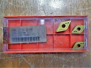 Lot Of 44 Pieces Sandvik Coromant Valentine Carbide Milling Inserts