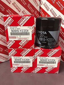 Set Of 4 Toyota Genuine Oem Oil Filter 90915 Yzzd1 Avalon 4runner Tacoma