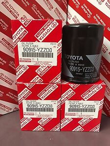 Set Of 4 Toyota Genuine Oem Oil Filter 90915 Yzzd3 Sequoia 4runner Tacoma