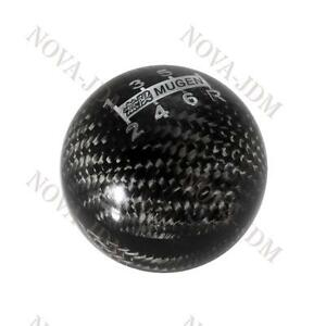 Carbon 6 Speed Jdm Style Mugen Shift Knob For Honda Rsx Cr Z Civic Type R S2000
