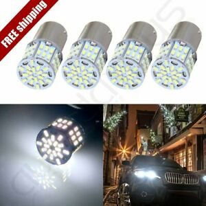 4x Xenon 1156 Ba15s 54 Smd Led Backup Led White Brake Lights Bulb High Power