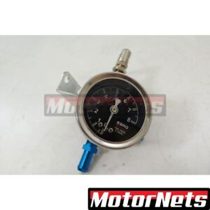 Universal Silver Aluminum Fuel Pressure Regulator With Gauge 15 100 Psi