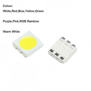 Smd 5050 Led Light Emitting Diodes White Red Blue Yellow Green Purple Pink Rgb
