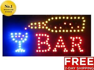 New Animated Led Bar Neon Light Business Open Sign With On off Motion Switch