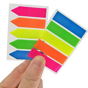 5pk Colorful Sticky Notes 1600pcs Office Supplies Book Reminder Tabs Bulk Lot