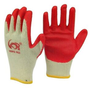 Wholesale 240 Pairs Premium Red Latex Rubber Coated Work Gloves