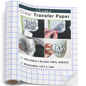 Kassa Vinyl Transfer Tape Roll 12 X 12 Craft Application Paper For Cricut