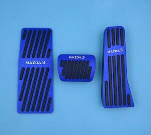For Mazda 3 Car Accessories Auto Accelerator Pedal Brake Pads Rest Footrest Blue