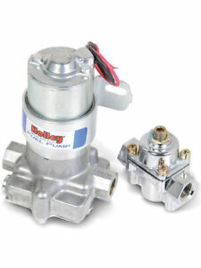 Holley Blue 110 Gph Electric Fuel Pump With Regulator 12 802