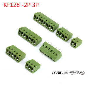 Terminal Connector Kf128 2p 3p Pitch 5 0mm Screwed Block Pcb 300v 10a