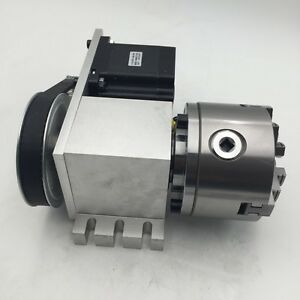 Cnc Router Hollow Shaft Rotary Axis A 4th Axis 3 Jaw 80mm Chuck Dividing Head
