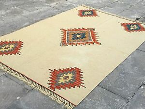Free Shipping Eclectic Handmade Turkish Old Kilim Rug Vintage Unique Decor