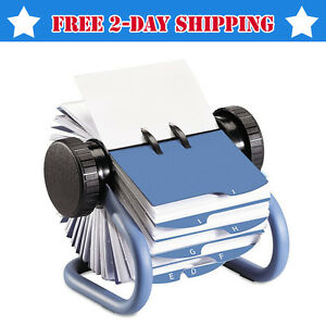 Rolodex Index Rotary Business Card File With Index 360 Swivel Metal Stand Holder