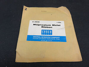 Magnesium Metal Ribbon 1 Ounce Central Scientific Company C 2418 sealed