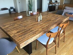 Elegant Dining Table Made Of Brazilian Reclaimed Wood 84 l X 45 W X 30