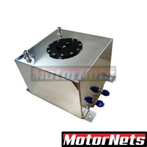 Polished Aluminum Fuel Cell Gas Tank 2 6 Gallons Sbc Bbc Sbf Hot Rod Chevy Ford