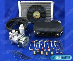 A C Kit Universal Under Dash Evaporator 432 12x16in Cond W Electrical Harness