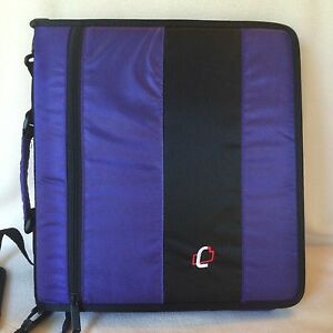 Case It D 250 Purple 3 ring Binder 2 Zipper Handle Shoulder Strap Coupons