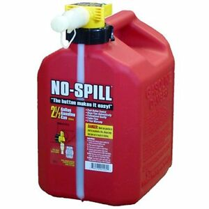No spill 1405 2 1 2 gallon Poly Gas Can One Size