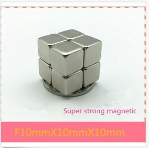 Large Strong Block Square Cube Rare Earth Neodymium Magnets 10x10x10mm
